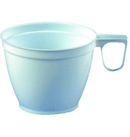 PAPSTAR Tasse, Einw., PS, mit Henkel, rund, 180ml, 7,8x6cm, weiß