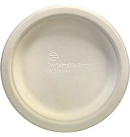 Sustainable Earth By Staples Teller, Bagasse, flach, rund, Ø: 15,2cm, natur