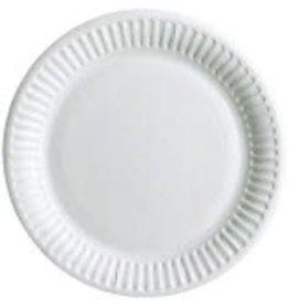 STAPLES Teller, Einweg, Pappe, unbeschichtet, flach, rund, Ø: 15 cm, weiß