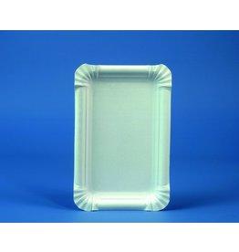 PAPSTAR Teller, Pappe, 245g/m², rechte., 20x13cm, weiß