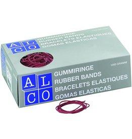 ALCO Gummiring, Schachtel extra groß, Kautschuk, Ø: 85 mm, rot