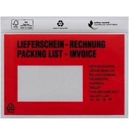 DEBATIN Begleitpapiertasche, LIEFERSCH.-RECHN., 10spr., Ankleb.verschl., C6