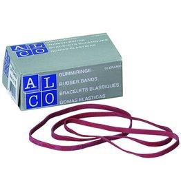 ALCO Gummiband, Schachtel klein, SB: 4 mm, FM: 130 mm, rot
