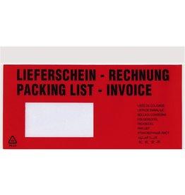 VELOFLEX Begleitpapiertasche TURA®, LIEFERSCH.-RECHN., 10/2spr., DL