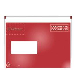 Pressel Begleitpapiertasche, DOKUMENTE, sk, C5, 239x185mm, farblos/rot/weiß