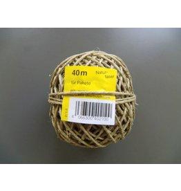 Heckmann Bindfaden, 2/1,0 mittelstark, für Pakete bis 8 kg, Knäuel, L: 40 m