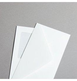 MAYSPIES Briefumschlag Opaline, m.Fe., DL, 110x220mm, 110 g/m², Leinen, weiß
