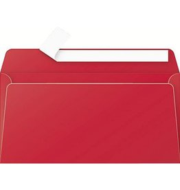 STAPLES Briefumschlag, bedruckbar, ohne Fenster, haftklebend, DL, kirschrot