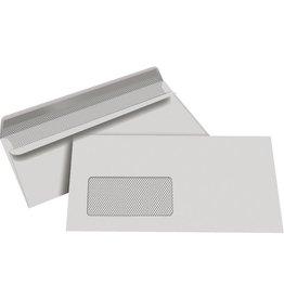 STAPLES Briefumschlag, m.Fe., sk, DL, 220x110mm, 80g/m², RC, grau