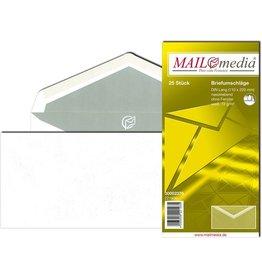 MAILmedia Briefumschlag, o.Fe., gummiert, DL, 220x110mm, 72 g/m², weiß