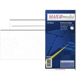 MAILmedia Briefumschlag, o.Fe., selbstklebend, DL, 220x110mm, 72 g/m², weiß