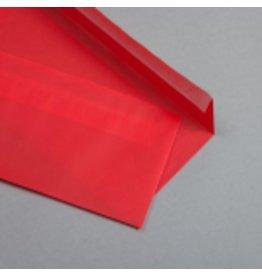 MAYSPIES Briefumschlag, ohne Fenster, haftklebend, DL, 100 g/m², rot