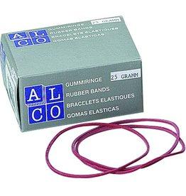 ALCO Gummiring, Schachtel extra klein, Kautschuk, Ø: 65 mm, rot