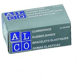 ALCO Gummiring, Schachtel klein, Kautschuk, Ø: 40 mm, rot