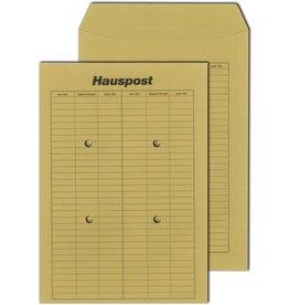 MAILmedia Hausposttasche, 4Sichtl., beids.Druck, nicht klebend, C4, braun