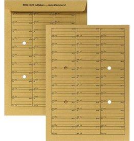 STAPLES Hausposttasche, 4Sichtl., gum, B4, 250x353mm, 120g/m², braun