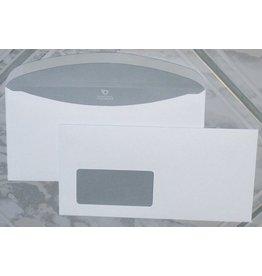Bong Kuvertierhülle, m.Fe., gum, C6/5, 229x114mm, 80g/m², hf, weiß