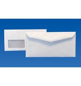 kuvermatic Kuvertierhülle, m.Fe., gum, kompakt, 235x120mm, 80 g/m², hf, weiß