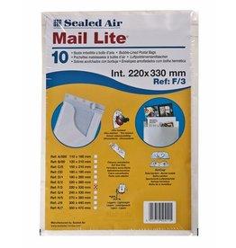 Mail Lite Luftpolstertasche, hk, Typ: F/3, 240x390mm, i: 220x330mm, 19g, weiß