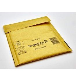 Mail Lite Luftpolstertasche, sk, Typ: A/000, i: 110 x 160 mm, Kraftpapier, gold