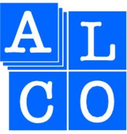 ALCO Packbandabroller, Handgerät, für Rollen bis 50 mm x 66 m, weiß/grau