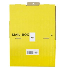 smartboxpro Versandkarton MAILBOX, L, Steckverschl., i: 395 x 248 x 141 mm, gelb