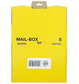 smartboxpro Versandkarton MAILBOX, S, Steckverschl., i: 249 x 175 x 79 mm, gelb