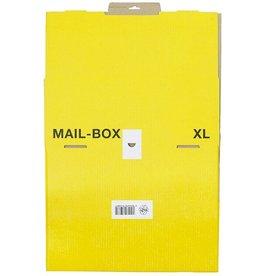 smartboxpro Versandkarton MAILBOX, XL, Steckverschl., i: 460 x 333 x 174 mm, gelb