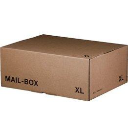 smartboxpro Versandkarton MAILBOX, XL, Steckverschl., i: 460x333x174mm, braun