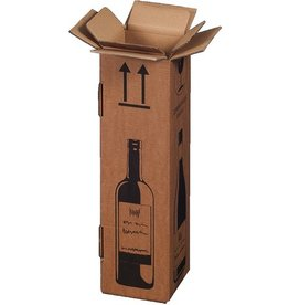smartboxpro Versandkarton, für 1 Flasche, Kartoneinsatz, i: 105x105x420mm, braun