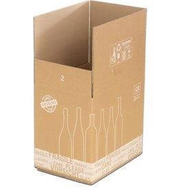 smartboxpro Versandkarton, für 12 Flaschen, Kartoneinsatz, i: 420x305x368mm, braun