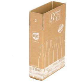 smartboxpro Versandkarton, für 3 Flaschen, Kartoneinsatz, i: 305x108x368mm, braun