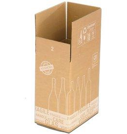 smartboxpro Versandkarton, für 6 Flaschen, Kartoneinsatz, i: 305x212x368mm, braun