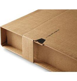 ColomPac Versandkarton, mit Sicherungslasche, B4, i: 360 x 265 x 1 - 92 mm
