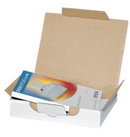 Pressel Versandkarton, Wellp., 1w., B, i: 310x215x50mm, weiß, FEFCO: 0499