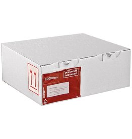 Pressel Versandkarton, Wellp., 1w., B, i: 330x100x100mm, weiß, FEFCO: 1000