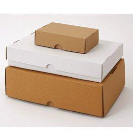 Pressel Versandkarton, Wellp., 1w., B, i: 435x311x100mm, weiß, FEFCO: 0330