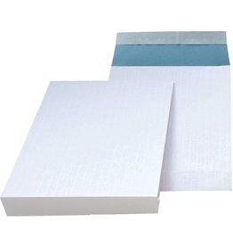 MAILmedia Versandtasche, m.Falte, 40mm, o.Fe., hk, C4, 135g/m², weiß/blau