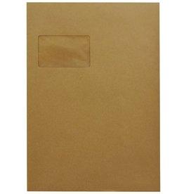 MAILmedia Versandtasche, m.Fe., sk, C4, 229x324mm, 90g/m², braun