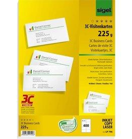 sigel Visitenkarte 3C, Edelkarton, 85 x 55 mm, hochweiß, glatter Rand
