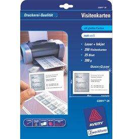 AVERY Zweckform Visitenkarte Quick&Clean™, I/L/K, 200g/m², 85x54mm, weiß, matt