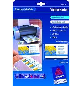 AVERY Zweckform Visitenkarte Quick&Clean™, L, 220g/m², 85x54mm, ultrawe