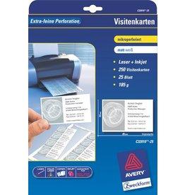 AVERY Zweckform Visitenkarte, I/L/K, 185g/m², 85x54mm, weiß, matt