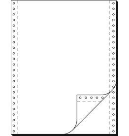 Tabellierpapier, LP, 240x304,8mm, 2f., 52g/m², blanko, weiß