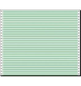 Tabellierpapier, 375x304,8mm, 1fach, 60g/m², 4,2 mm Leselinien, we/gn