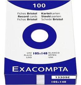 EXACOMPTA Karteikarte, blanko, A6, Karton, 205 g/m², weiß