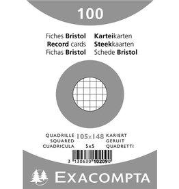 EXACOMPTA Karteikarte, kariert, A6, Karton, 205 g/m², weiß