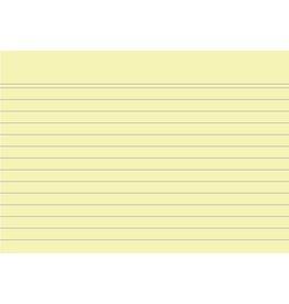 EXACOMPTA Karteikarte, liniert, A6, Karton, 205 g/m², gelb