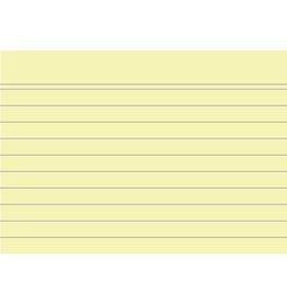 EXACOMPTA Karteikarte, liniert, A7, Karton, 205 g/m², gelb