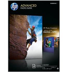 HP Inkjetpapier Advanced Photo, A4, 250g/m², weiß, hochglänzend
